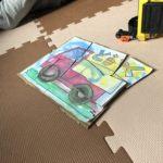 1歳児と工作〜紙と段ボールでパズル作り