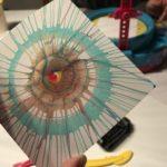 イマジナリウムのおもちゃで遠心力アートに挑戦してみた